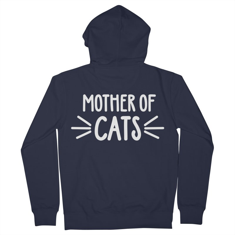 Mother of Cats Men's French Terry Zip-Up Hoody by Maryland SPCA's Artist Shop