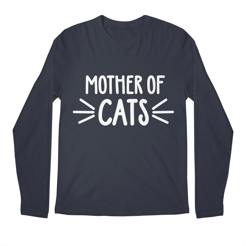 Mother of Cats Men's Regular Longsleeve T-Shirt by Maryland SPCA's Artist Shop