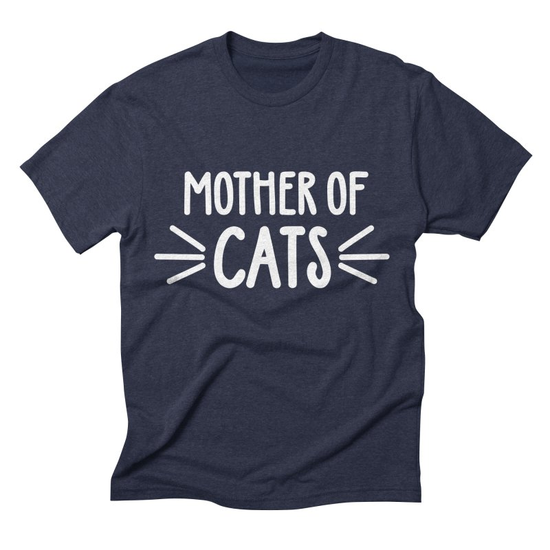 Mother of Cats Men's Triblend T-Shirt by Maryland SPCA's Artist Shop