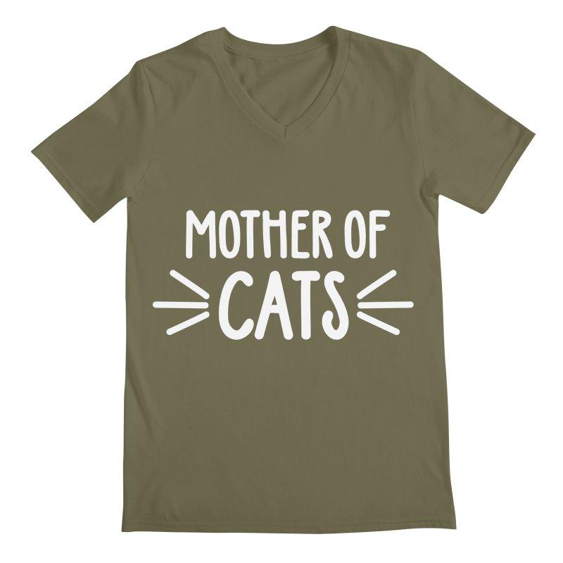Mother of Cats Men's Regular V-Neck by Maryland SPCA's Artist Shop