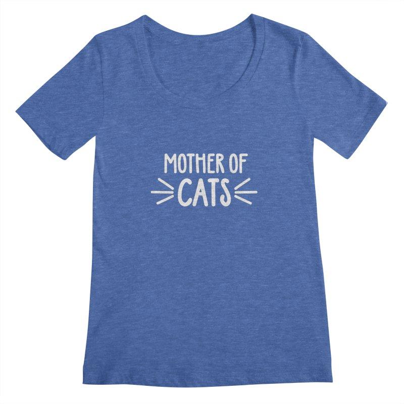 Mother of Cats Women's Regular Scoop Neck by marylandspca's Artist Shop