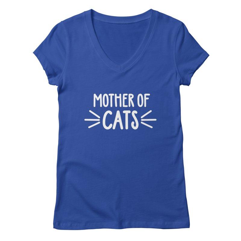 Mother of Cats Women's Regular V-Neck by Maryland SPCA's Artist Shop