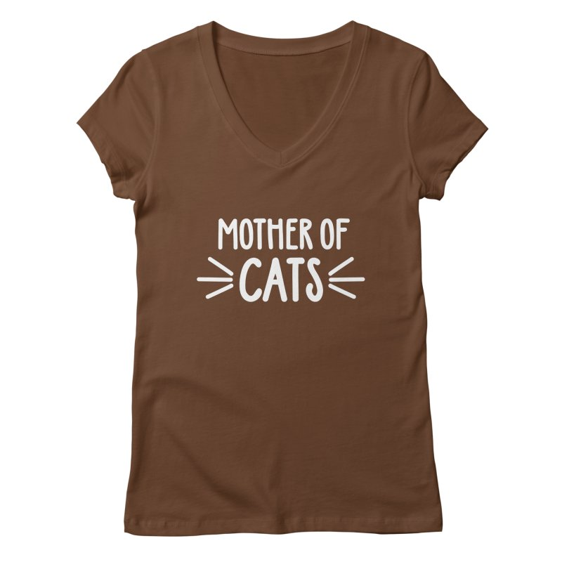 Mother of Cats Women's Regular V-Neck by Maryland SPCA's Artist Shop