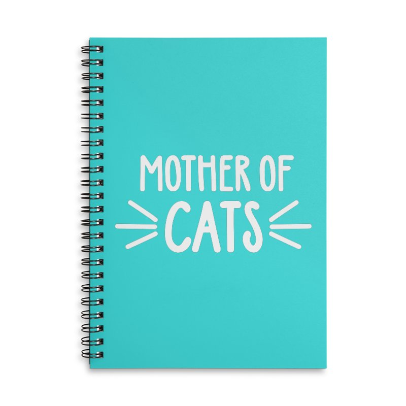 Mother of Cats Accessories Lined Spiral Notebook by Maryland SPCA's Artist Shop