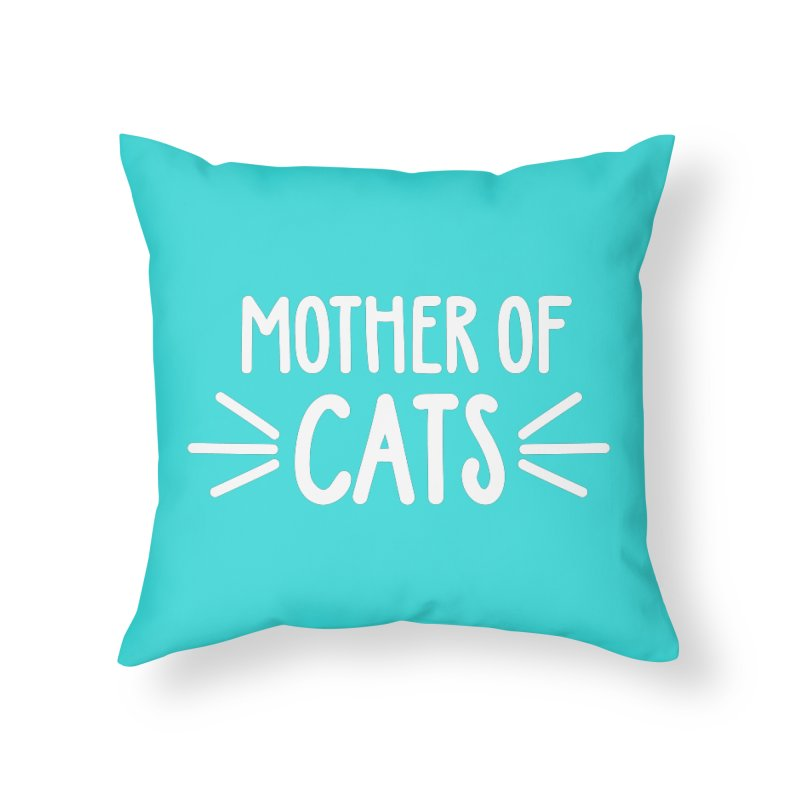 Mother of Cats Home Throw Pillow by Maryland SPCA's Artist Shop