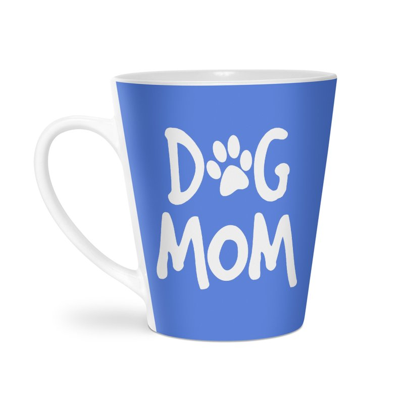 Dog Mom Accessories Latte Mug by Maryland SPCA's Artist Shop