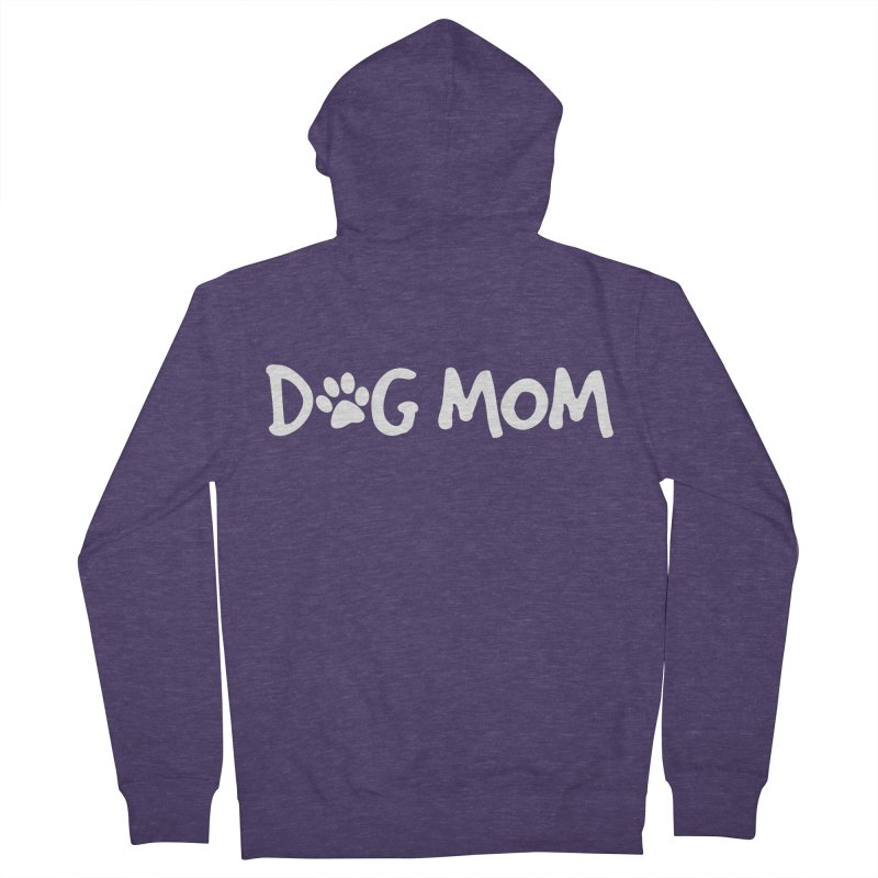 Dog Mom Men's French Terry Zip-Up Hoody by Maryland SPCA's Artist Shop
