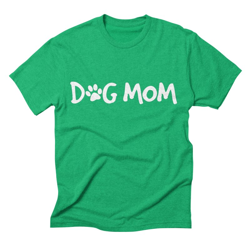Dog Mom Men's Triblend T-Shirt by Maryland SPCA's Artist Shop