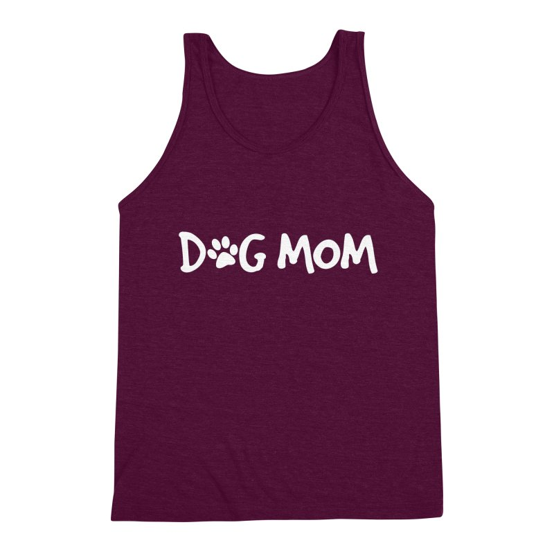 Dog Mom Men's Triblend Tank by Maryland SPCA's Artist Shop