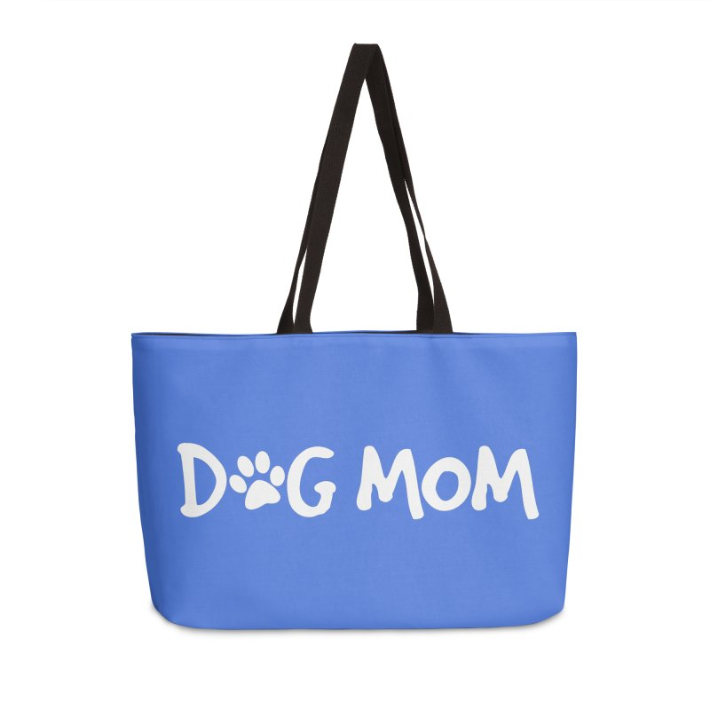 Dog Mom Accessories Weekender Bag Bag by Maryland SPCA's Artist Shop