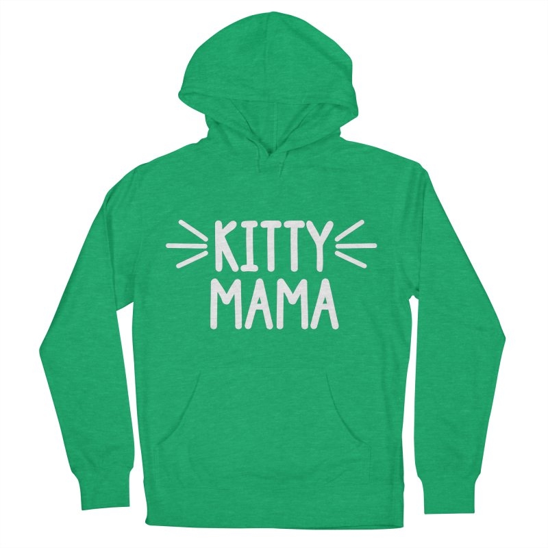 Kitty Mama Men's French Terry Pullover Hoody by Maryland SPCA's Artist Shop