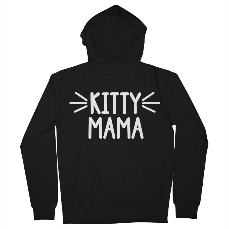 Kitty Mama Men's French Terry Zip-Up Hoody by Maryland SPCA's Artist Shop