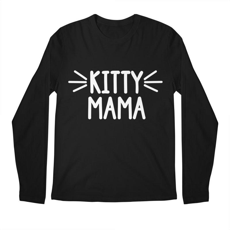 Kitty Mama Men's Regular Longsleeve T-Shirt by Maryland SPCA's Artist Shop