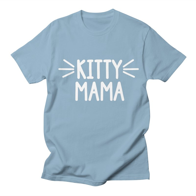 Kitty Mama Men's Regular T-Shirt by Maryland SPCA's Artist Shop