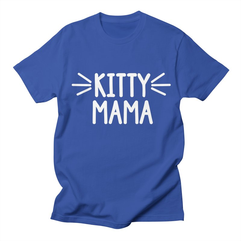 Kitty Mama Men's Regular T-Shirt by Maryland SPCA's Artist Shop
