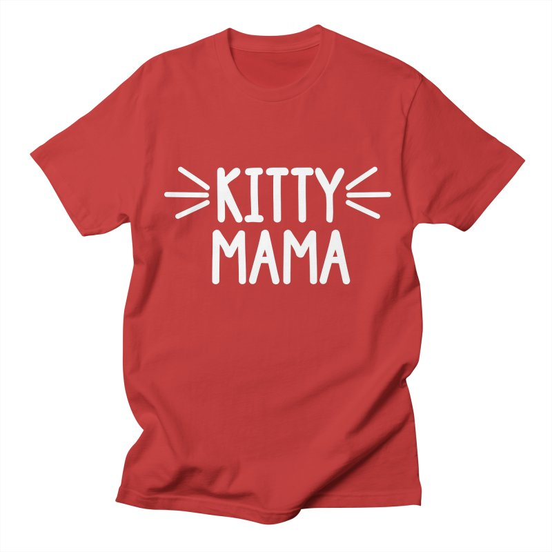Kitty Mama Women's Regular Unisex T-Shirt by Maryland SPCA's Artist Shop