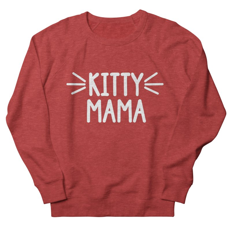 Kitty Mama Women's French Terry Sweatshirt by Maryland SPCA's Artist Shop
