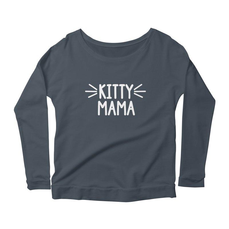 Kitty Mama Women's Scoop Neck Longsleeve T-Shirt by Maryland SPCA's Artist Shop