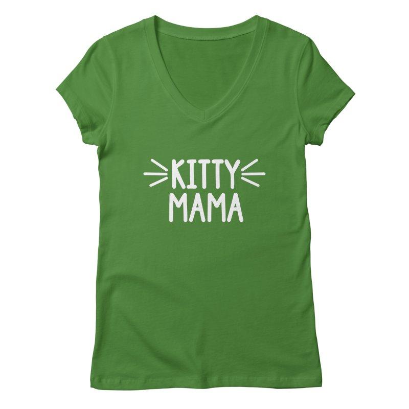 Kitty Mama Women's Regular V-Neck by marylandspca's Artist Shop
