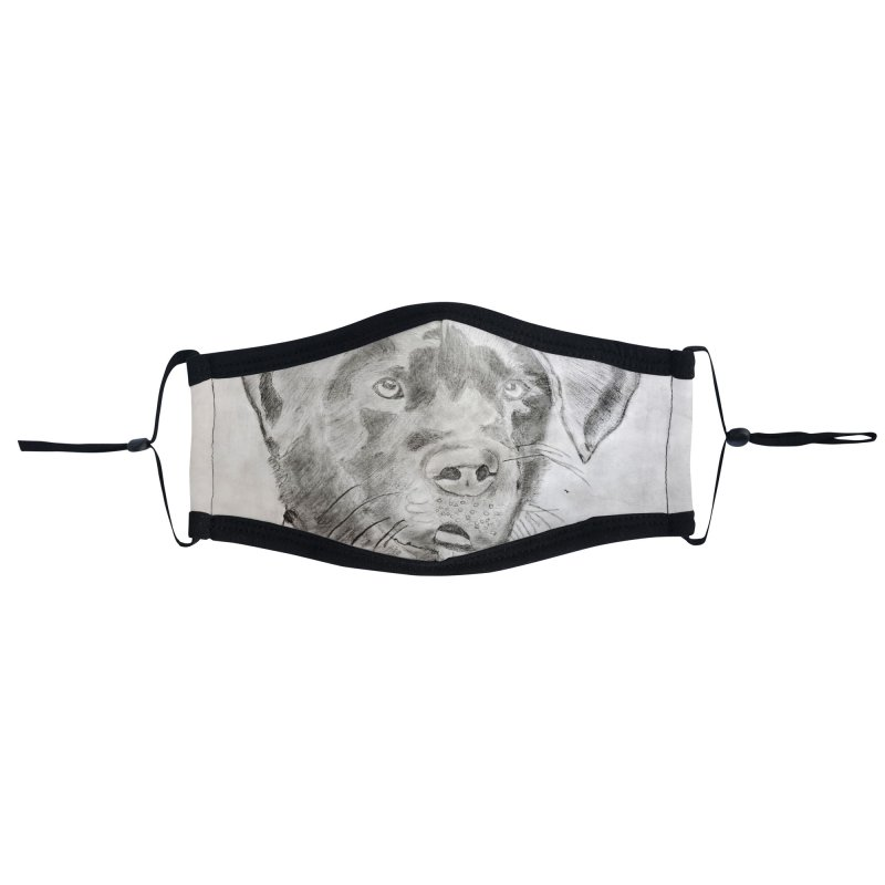 KFP Zainab M. Accessories Face Mask by Maryland SPCA's Artist Shop
