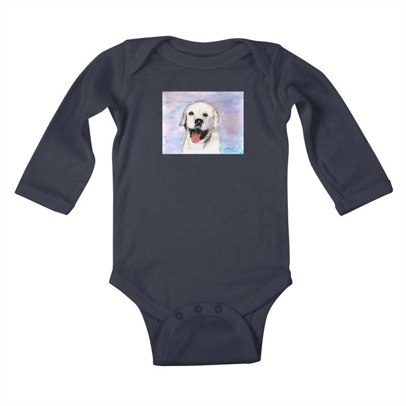 KFP Chloe S. Kids Baby Longsleeve Bodysuit by Maryland SPCA's Artist Shop