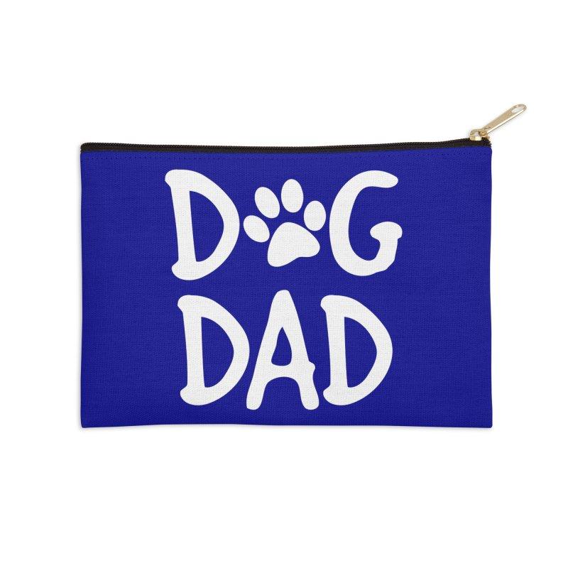 Dog Dad Accessories Zip Pouch by Maryland SPCA's Artist Shop