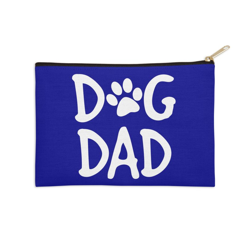 Dog Dad Accessories Zip Pouch by Maryland SPCA's Artist Shop