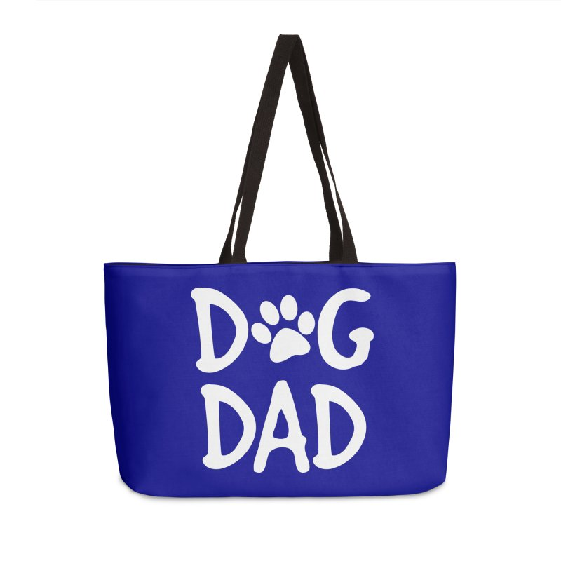 Dog Dad Accessories Weekender Bag Bag by Maryland SPCA's Artist Shop