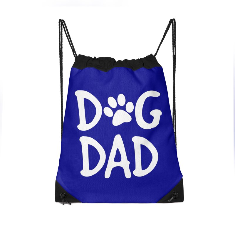 Dog Dad Accessories Drawstring Bag Bag by Maryland SPCA's Artist Shop