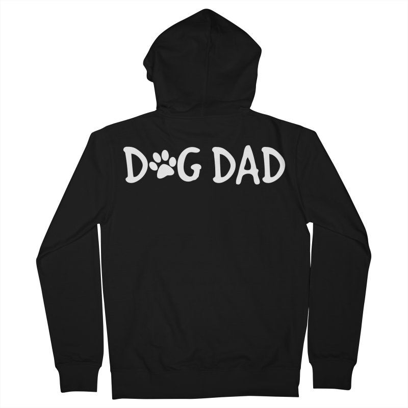Dog Dad Men's French Terry Zip-Up Hoody by Maryland SPCA's Artist Shop