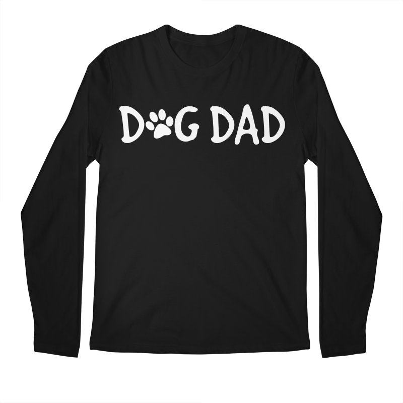 Dog Dad Men's Regular Longsleeve T-Shirt by Maryland SPCA's Artist Shop