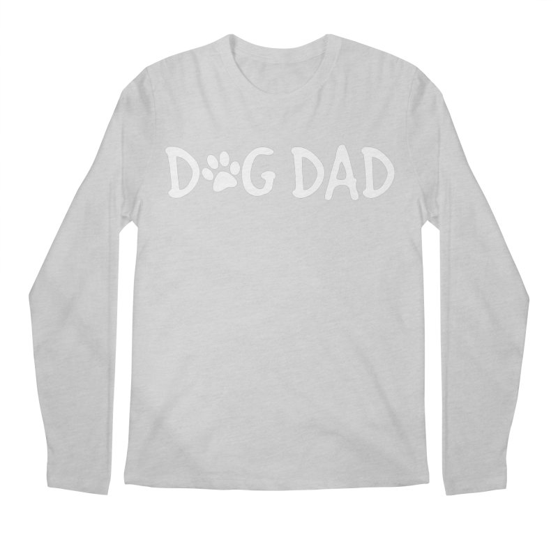 Dog Dad Men's Regular Longsleeve T-Shirt by Maryland SPCA's Artist Shop