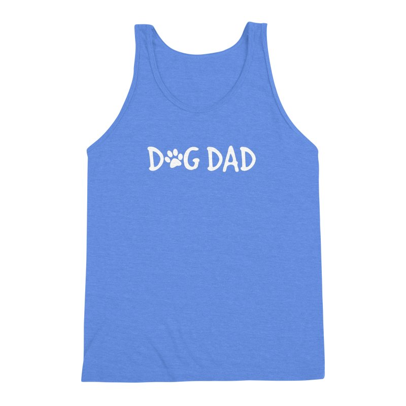Dog Dad Men's Triblend Tank by Maryland SPCA's Artist Shop