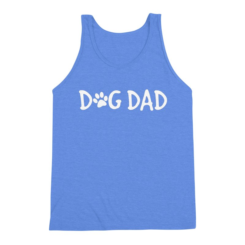 Dog Dad Men's Triblend Tank by Maryland SPCA's Artist Shop