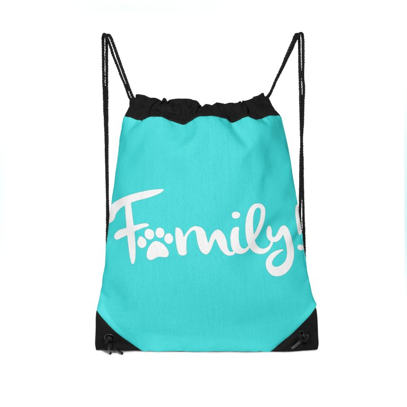 Family! Accessories Drawstring Bag Bag by Maryland SPCA's Artist Shop