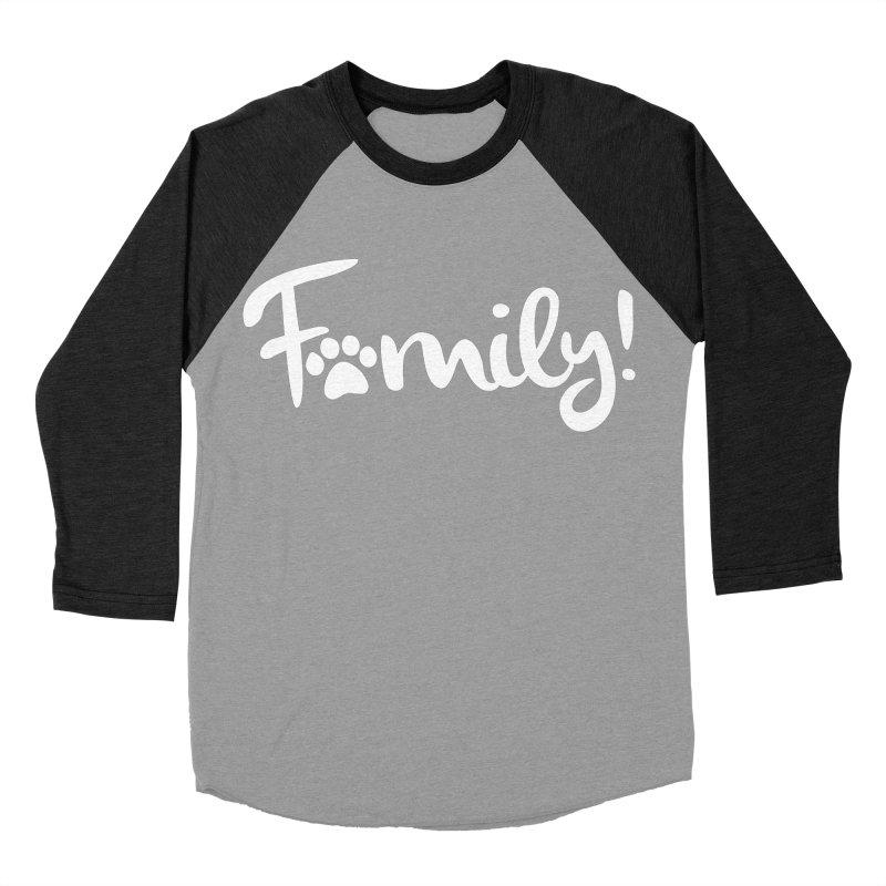 Family! Men's Baseball Triblend Longsleeve T-Shirt by Maryland SPCA's Artist Shop