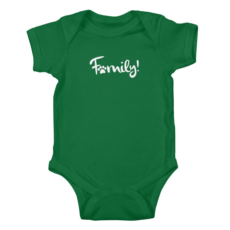 Family! Kids Baby Bodysuit by Maryland SPCA's Artist Shop