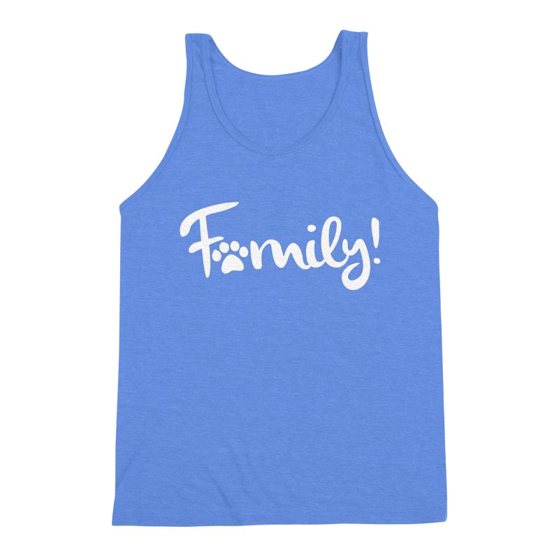 Family! Men's Triblend Tank by Maryland SPCA's Artist Shop