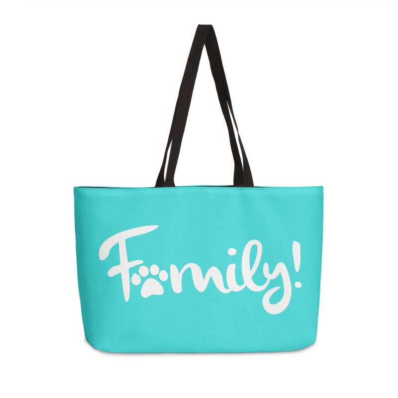 Family! Accessories Weekender Bag Bag by Maryland SPCA's Artist Shop