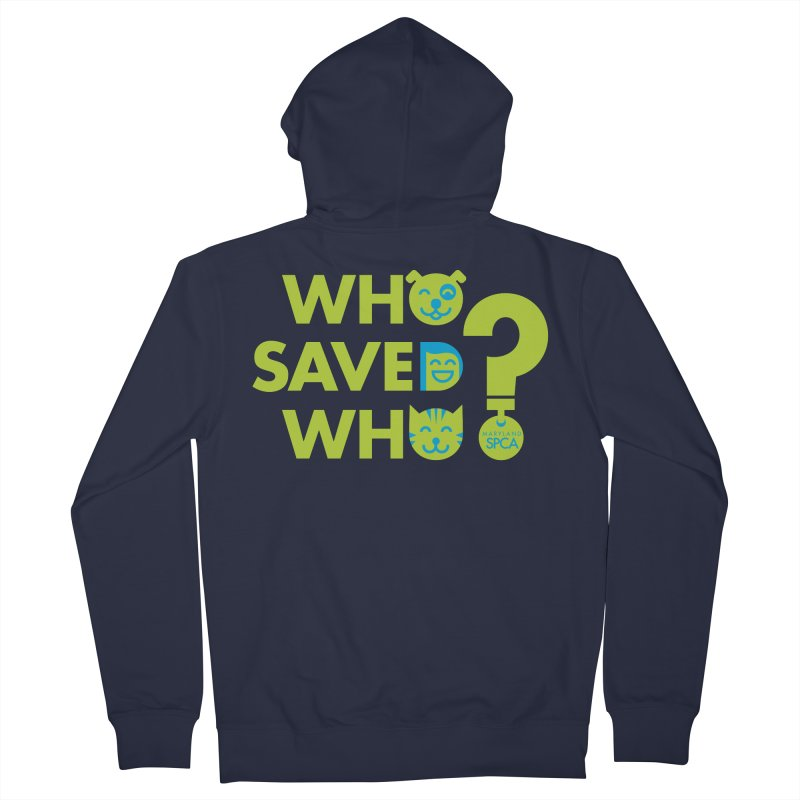 Who Saved Who? – MD SPCA design Men's French Terry Zip-Up Hoody by Maryland SPCA's Artist Shop