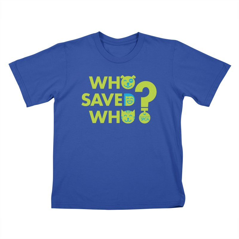 Who Saved Who? – MD SPCA design Kids T-Shirt by Maryland SPCA's Artist Shop
