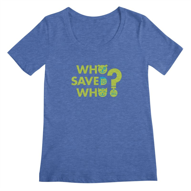 Who Saved Who? – MD SPCA design Women's Regular Scoop Neck by marylandspca's Artist Shop