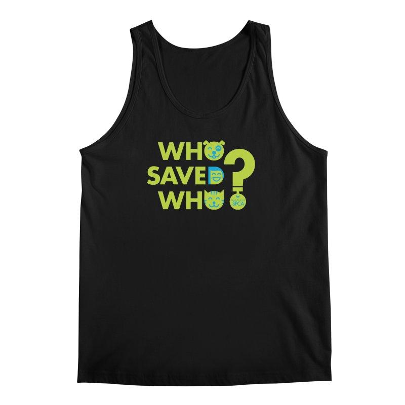Who Saved Who? – MD SPCA design Men's Regular Tank by Maryland SPCA's Artist Shop