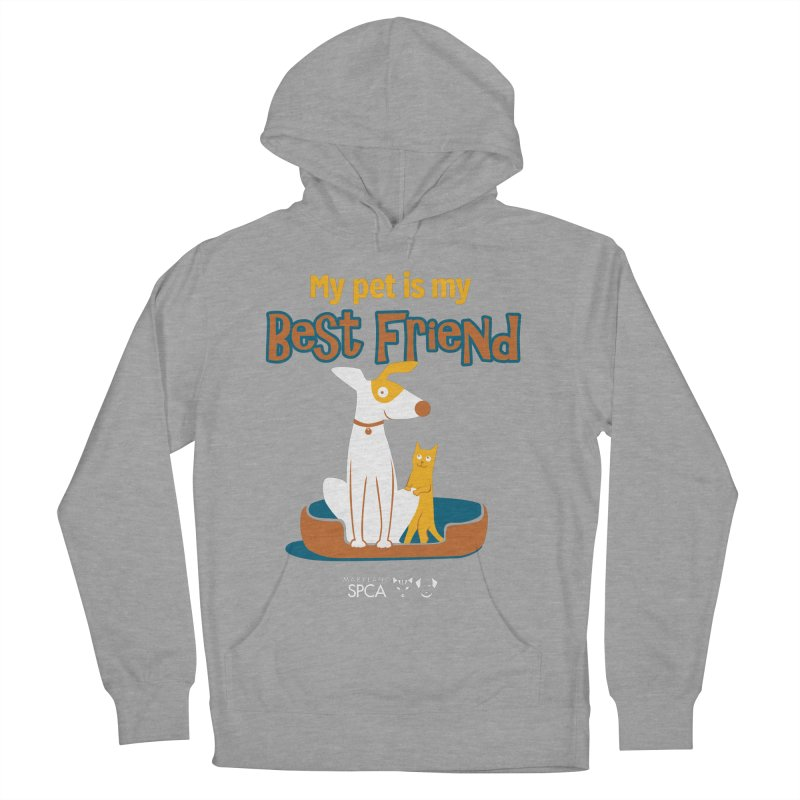 Best Friend - MD SPCA Design Men's French Terry Pullover Hoody by Maryland SPCA's Artist Shop