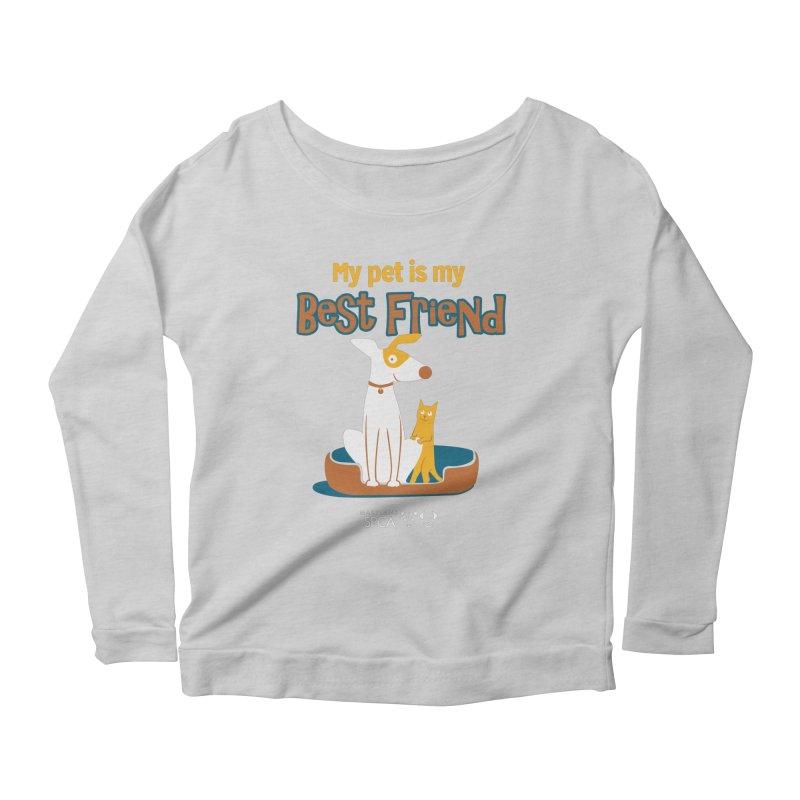 Best Friend - MD SPCA Design Women's Scoop Neck Longsleeve T-Shirt by Maryland SPCA's Artist Shop