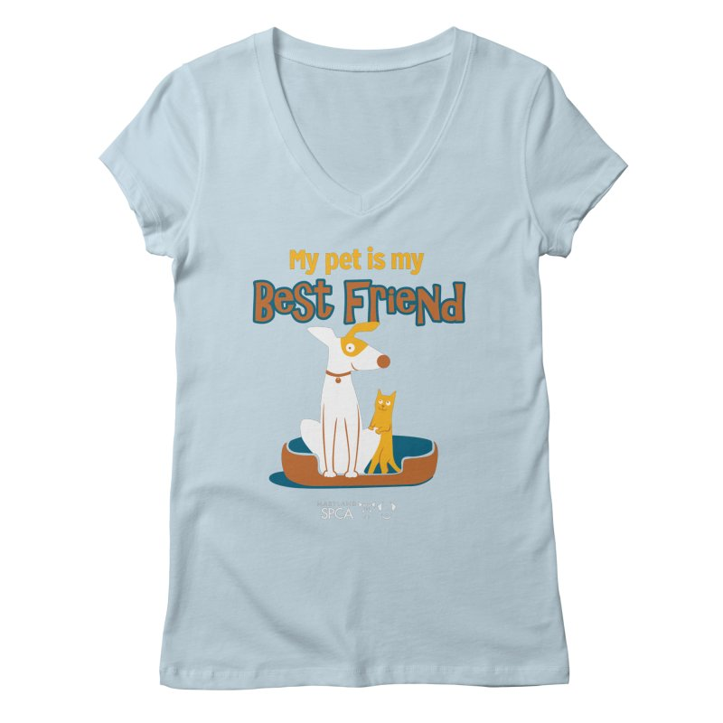 Best Friend - MD SPCA Design Women's Regular V-Neck by Maryland SPCA's Artist Shop