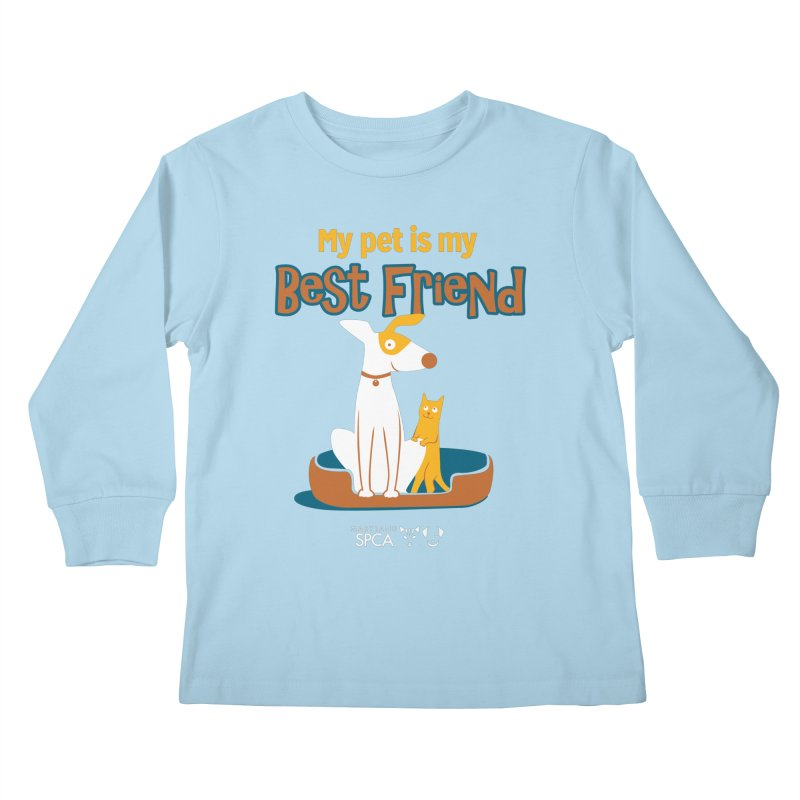 Best Friend - MD SPCA Design Kids Longsleeve T-Shirt by Maryland SPCA's Artist Shop