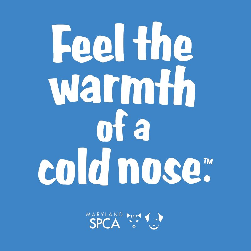 Feel the Warmth - MD SPCA Design Men's T-Shirt by Maryland SPCA's Artist Shop