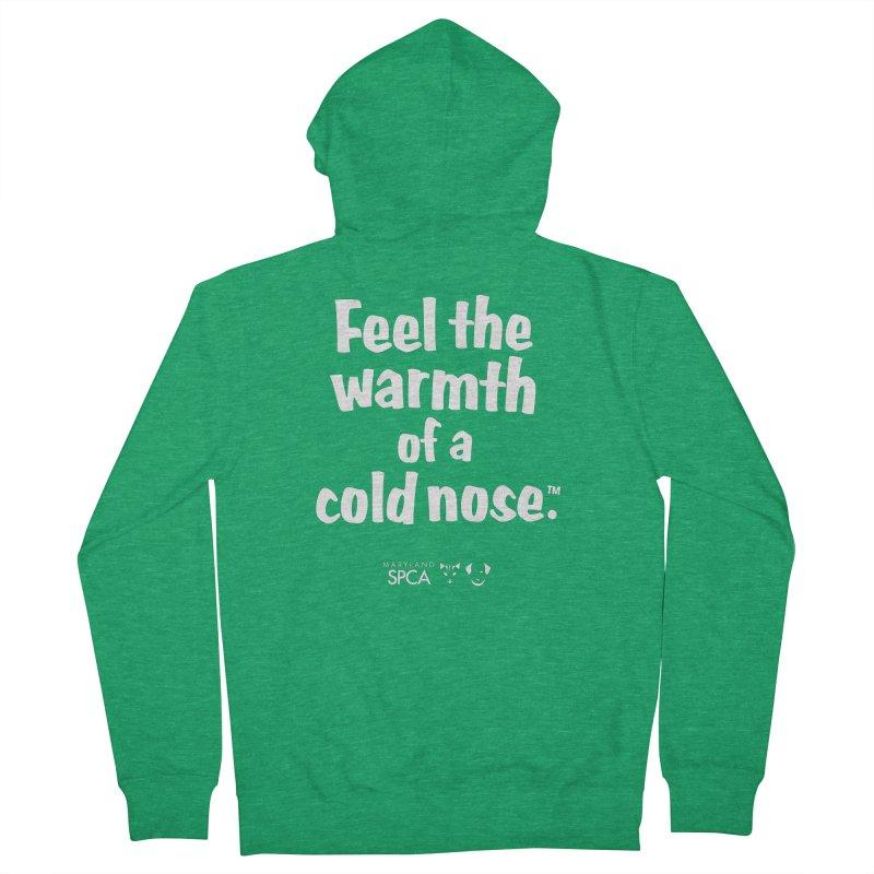 Feel the Warmth - MD SPCA Design Women's Zip-Up Hoody by Maryland SPCA's Artist Shop