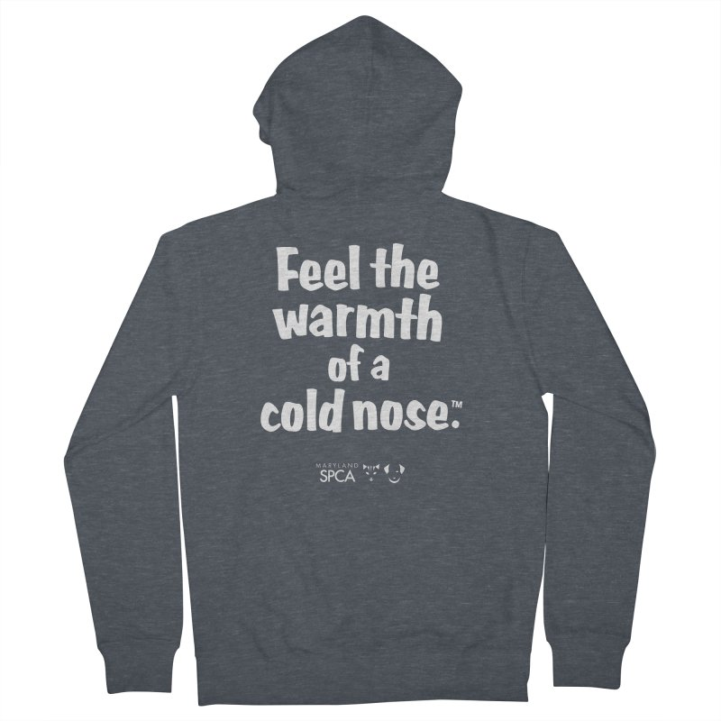 Feel the Warmth - MD SPCA Design Women's French Terry Zip-Up Hoody by Maryland SPCA's Artist Shop